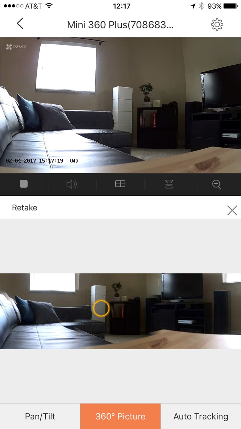 mini 360 plus cam a new spin on home security review digital trends. Black Bedroom Furniture Sets. Home Design Ideas