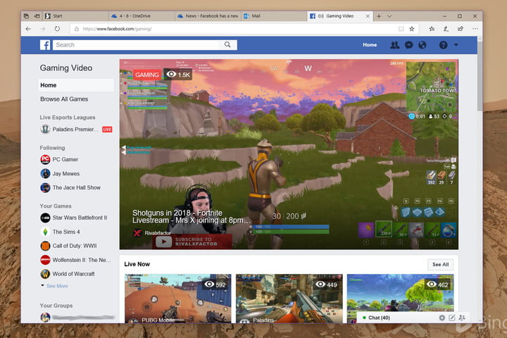 facebook tackles twitch mixer with game streaming portal