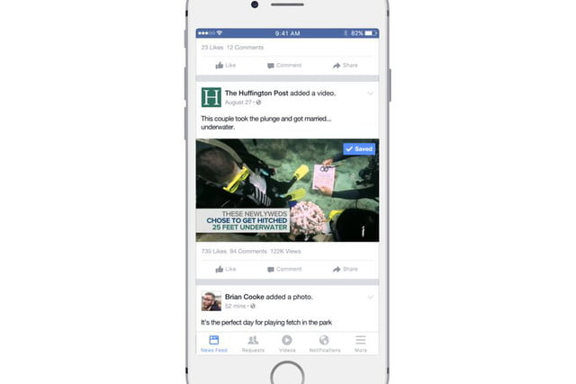 facebook begins testing news feed just for video save videos later