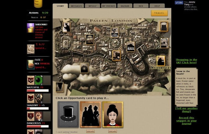 best free to play games fallen london