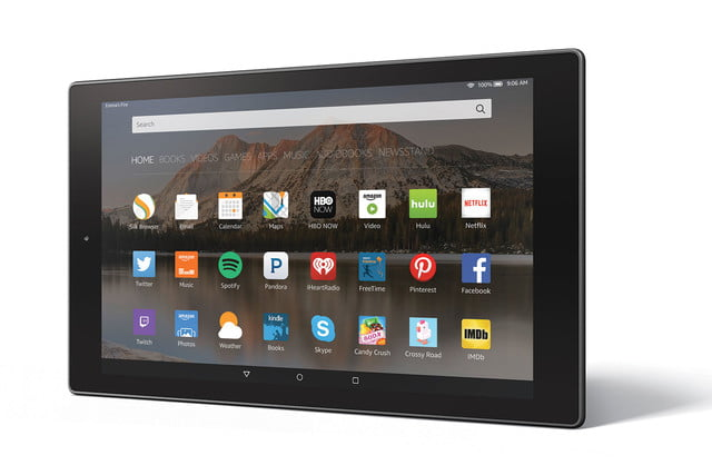 amazon fire hd 10 aluminum horizontal left