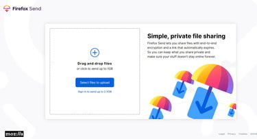 Mozilla's New Free File-Sharing Service Offers Encrypted File