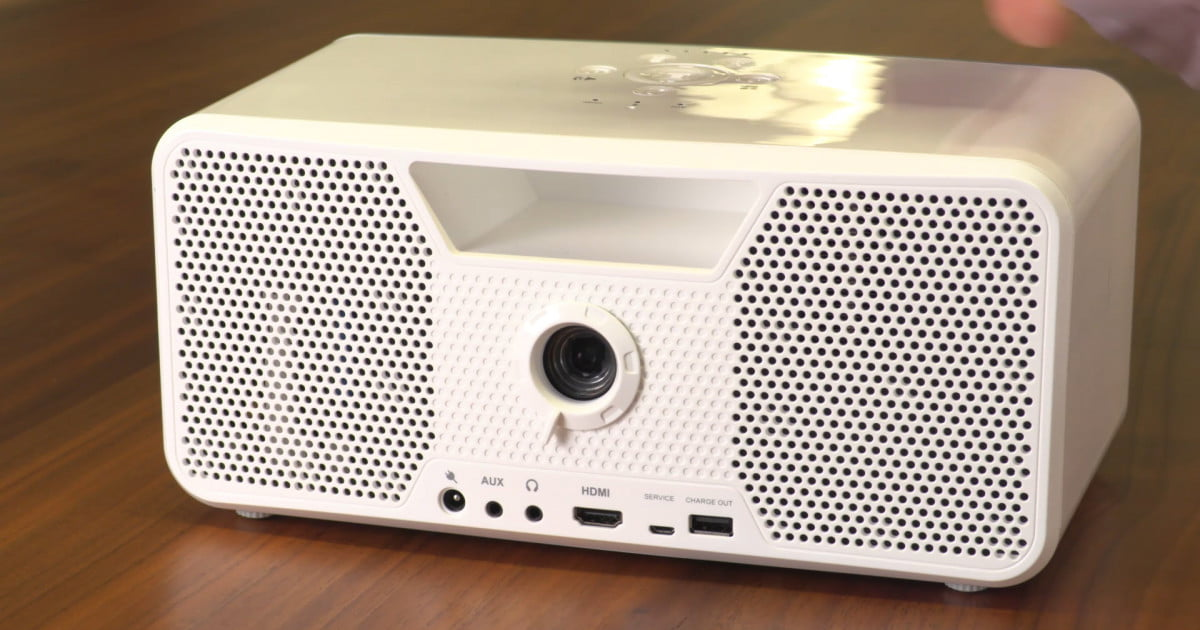 how to turn on speaker in a projector