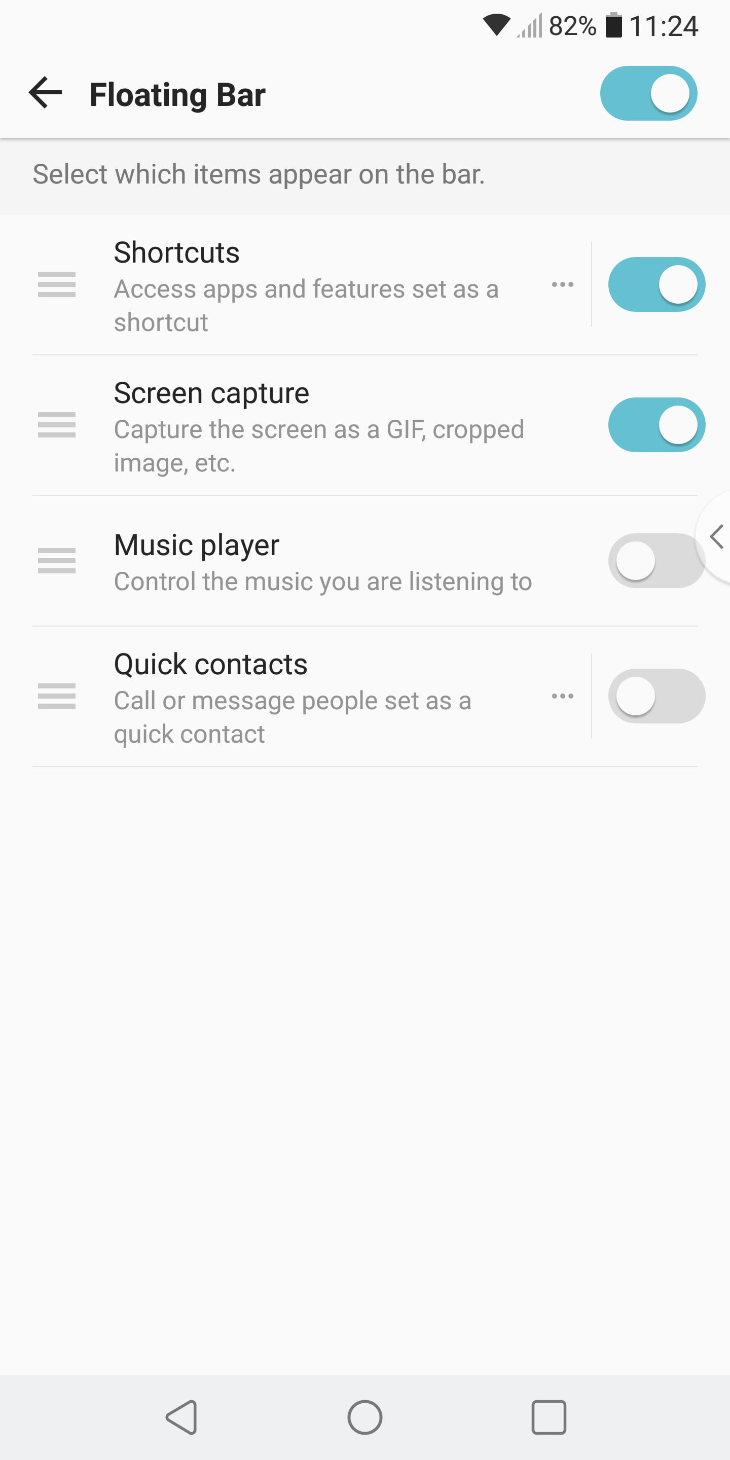 The Best Lg V30 Tips And Tricks To Help You Get More From Your Phone When Fan On Setting Is Selected Contacts Between R Floating Bar 3