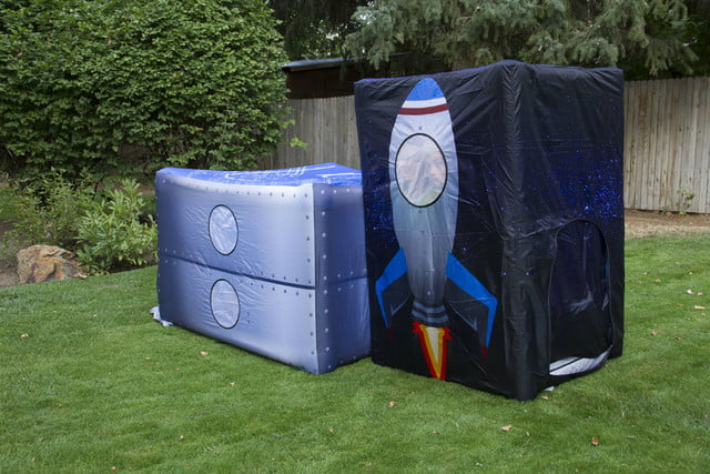 fortsy is an inflatable play fort on kickstarter moon
