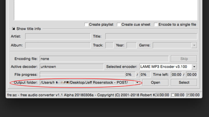 how to convert flac mp3 freac step 6