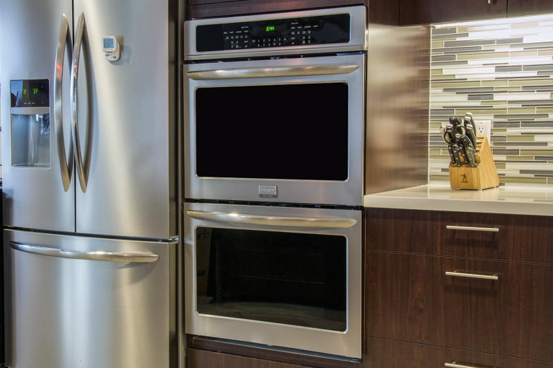 frigidaire double oven fget3065pf review front angle - Frigidaire
