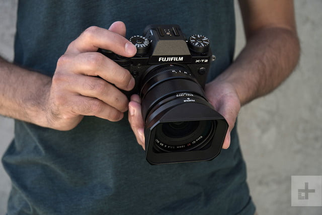 Fujifilm XF 16mm F14 R WR review in hand 2