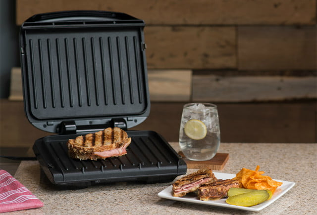 walmart deals on george foreman electric grills and griddles 4 serving removable plate grill panini press 2