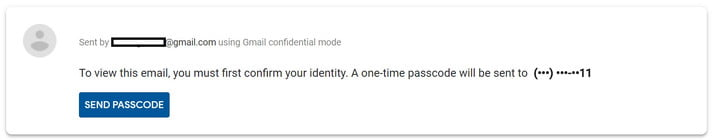 how to use gmail confidential mode passcode