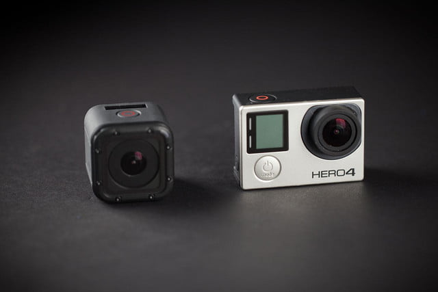 GoPro Hero 4 session side by side