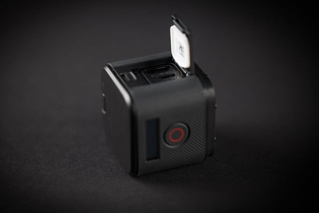 GoPro Hero 4 session hands on side open