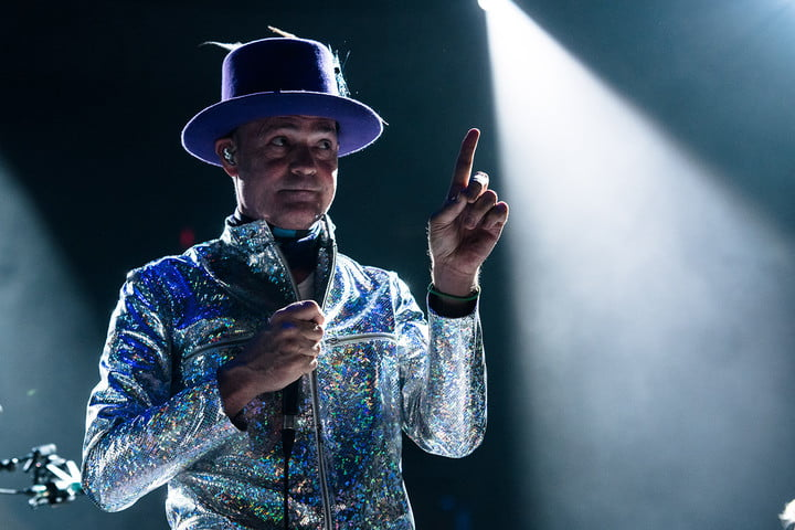 Gord Downie silver suit