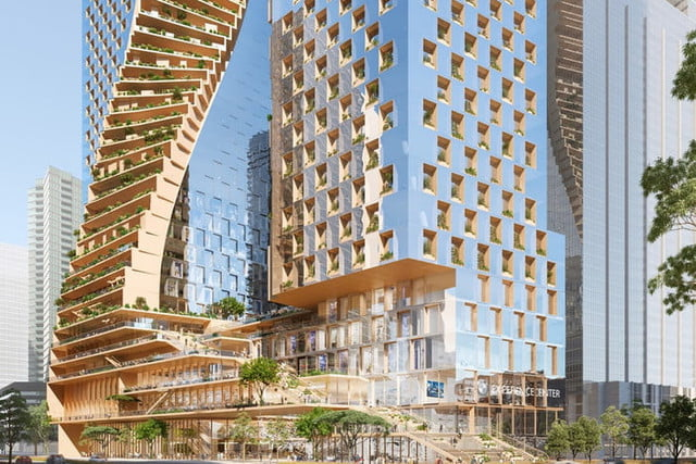 spectacular twisting tower could become australias tallest building green spine 2