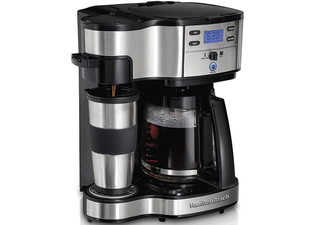 amazon chops price for customer favorite hamilton beach coffee brewer 49980a 2 way maker single serve with 12 cup carafe stai