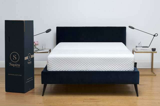 leesa introduces its luxury sapira mattress in a box hero shot