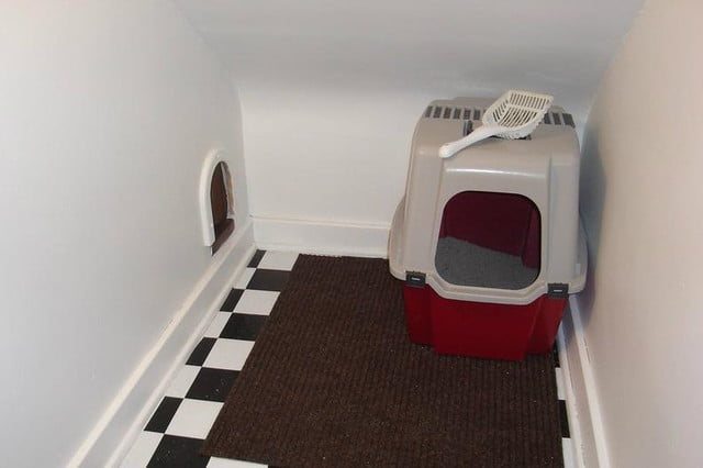 furniture and homes that are made for cat people houzz litter box room