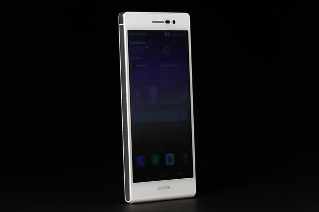 Huawei Ascend P7 review screen angle