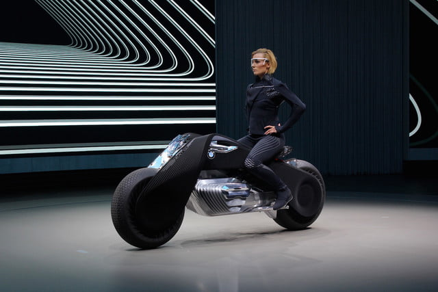 in 100 years, bmw thinks motorcycles will look like this self
