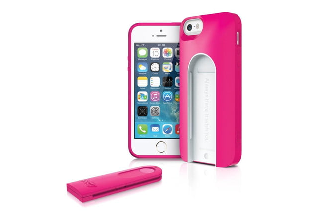 iluv smartphone case with built in remote shutter designed for the selfie obsessed iphone 5s pink