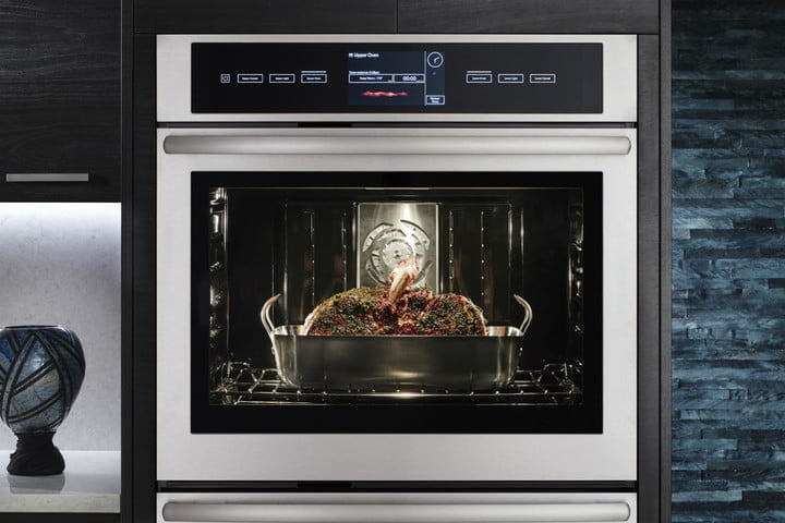 jenn air smart wireless wall oven closed with food  1