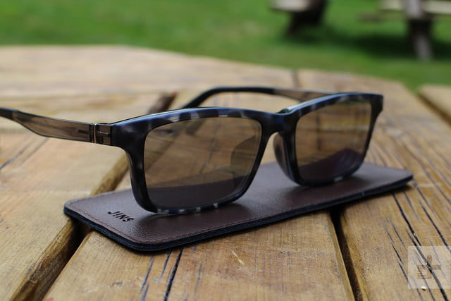4d27e8e865 Jins Frontswitch Glasses shades on table