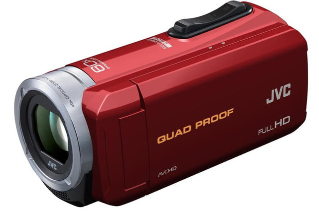 rugged pov cams go full size jvcs weather everio jvc gzr10 red