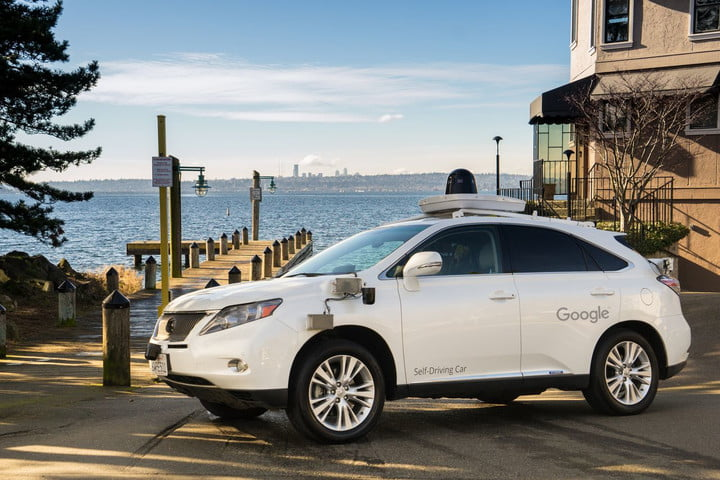 Google self-driving Lexus RX 450h in Kirkland, Washington
