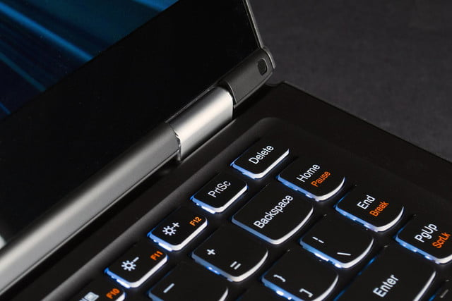 Lenovo Yoga 13 review keyboard top right