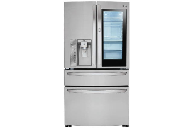 home depot chops samsung and lg french door fridge prices electronics 23 cu ft 4 smart refrigerator with instaview in stainle