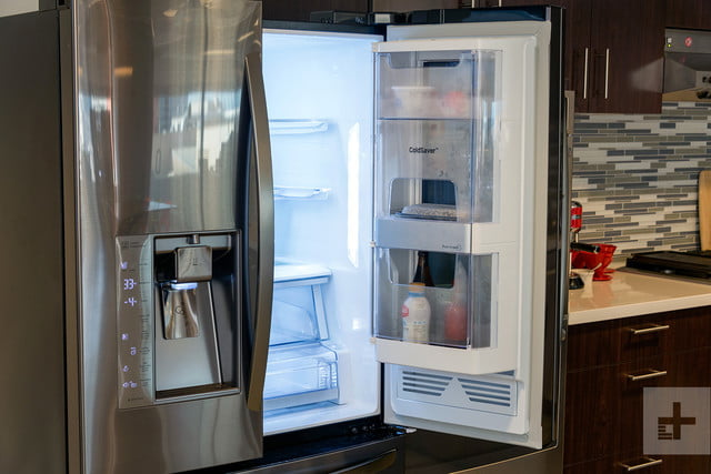 LG Instaview Refrigerator 2017 right door open