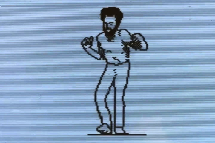 donald glover dance pixilized on old macintosh se mac animation top