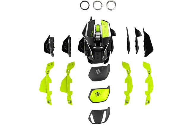 mad catz goes neon green with new customizable gaming mouse madcatazratprox5