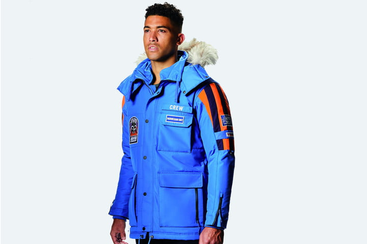 star wars columbia parka giveaway male model  front facing right ar32