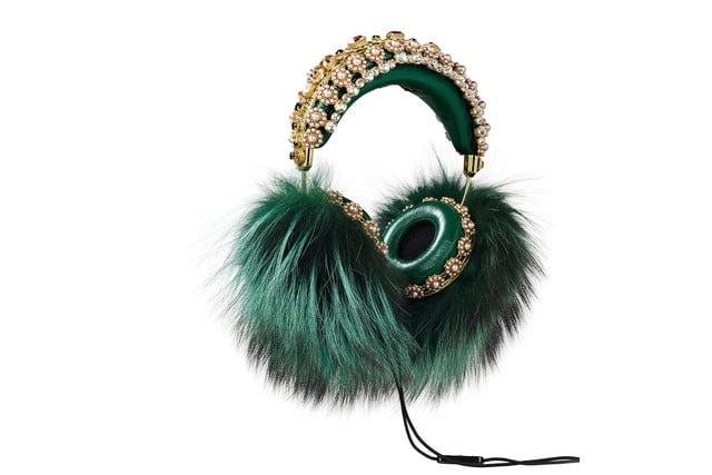 rihanna sells out 9000 dollar dolce gabanna headphones marble green fox hanging