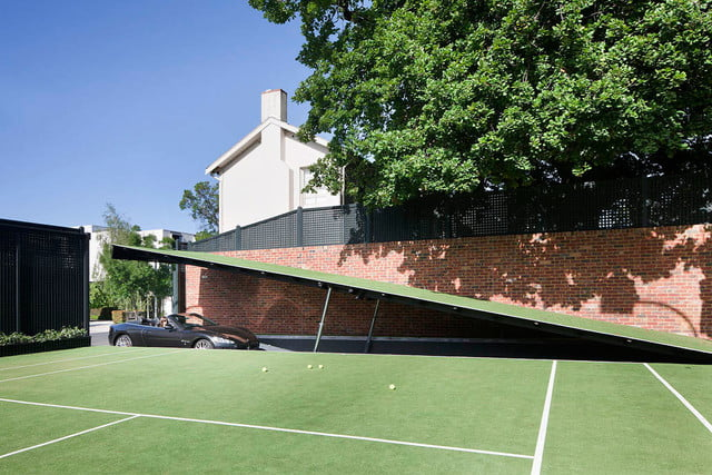 Under A Tennis Court This Mansion Harbors A Secret Batcavestyle - Houses with underground garages