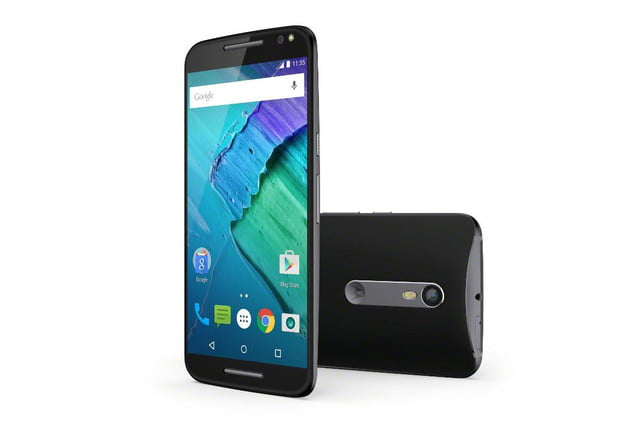 moto x 2015 news style pure edition black front back
