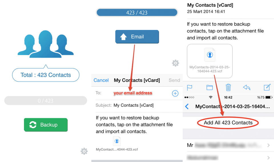 How do i get my contacts from android to iphone