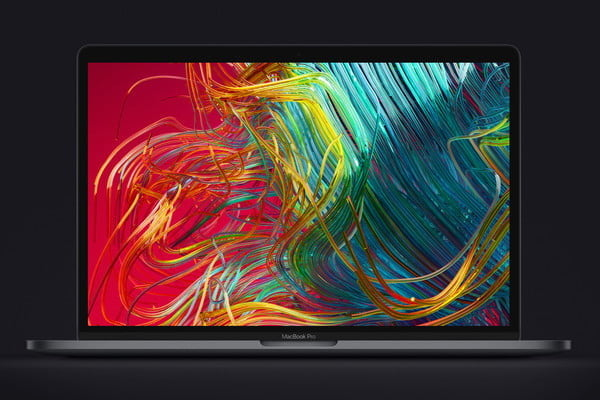 new macbook pro 8th generation cpu colorful wallpaper