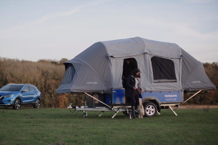 Nissan is using old Leaf batteries to power and connect off-the-grid campers