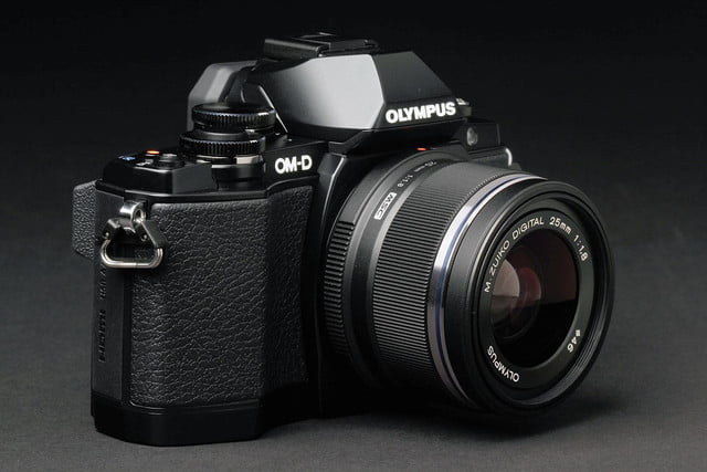 Olympus OM D E M10 front angle 2