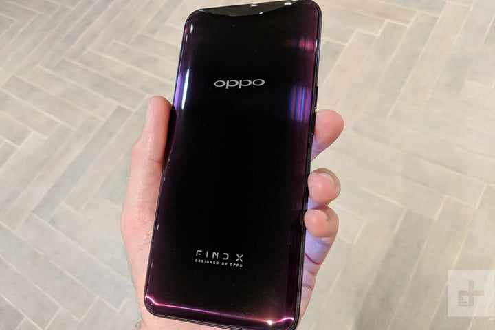 oppo find x hands on back full angle