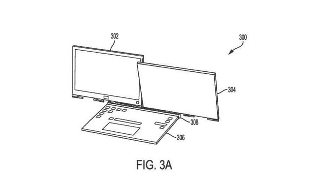 dell laptop two detachable displays patent 3