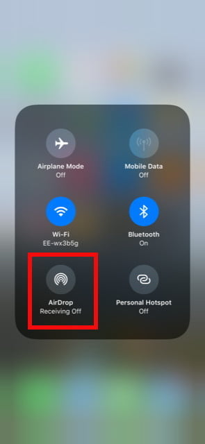 Photo transfer AirDrop on iPhon