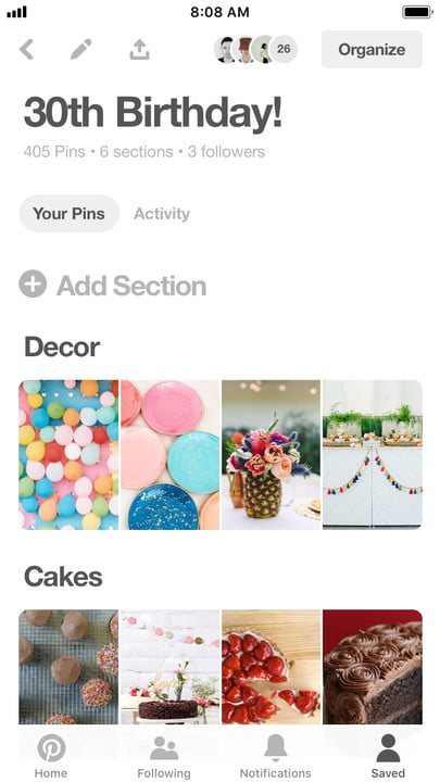pinterest group boards activity feed board