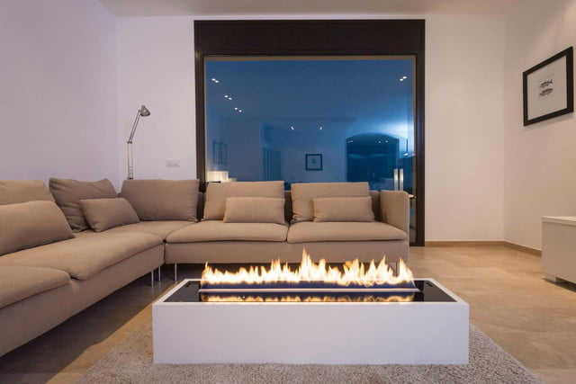 Coffee Table Fireplace turn your coffee table into a booze-burning fireplace you control