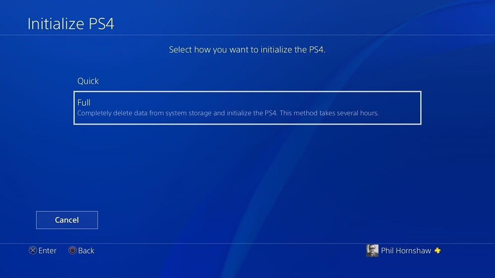 How to Reset a PS4 Playstation 4 Initialization Full