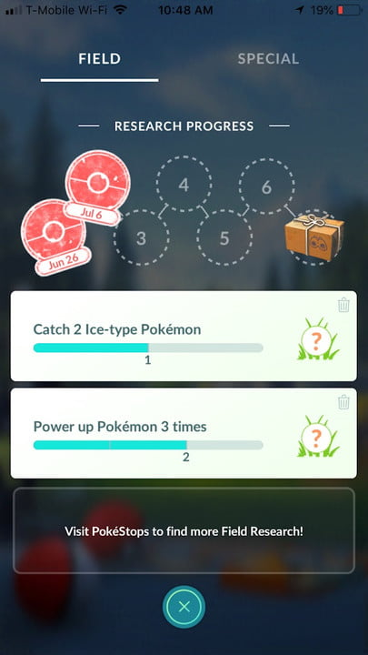 pokemon go tips field research