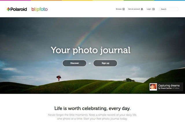 polaroid rebrands re launches blipfoto one photo day social network 3