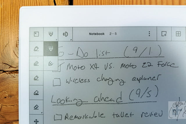 ReMarkable Tablet to do list close